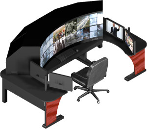 "72"" Projection Display Workstation/Trainer"
