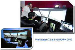 "72"" Projection Display Workstation/Trainer SIGGRAPH 2012"